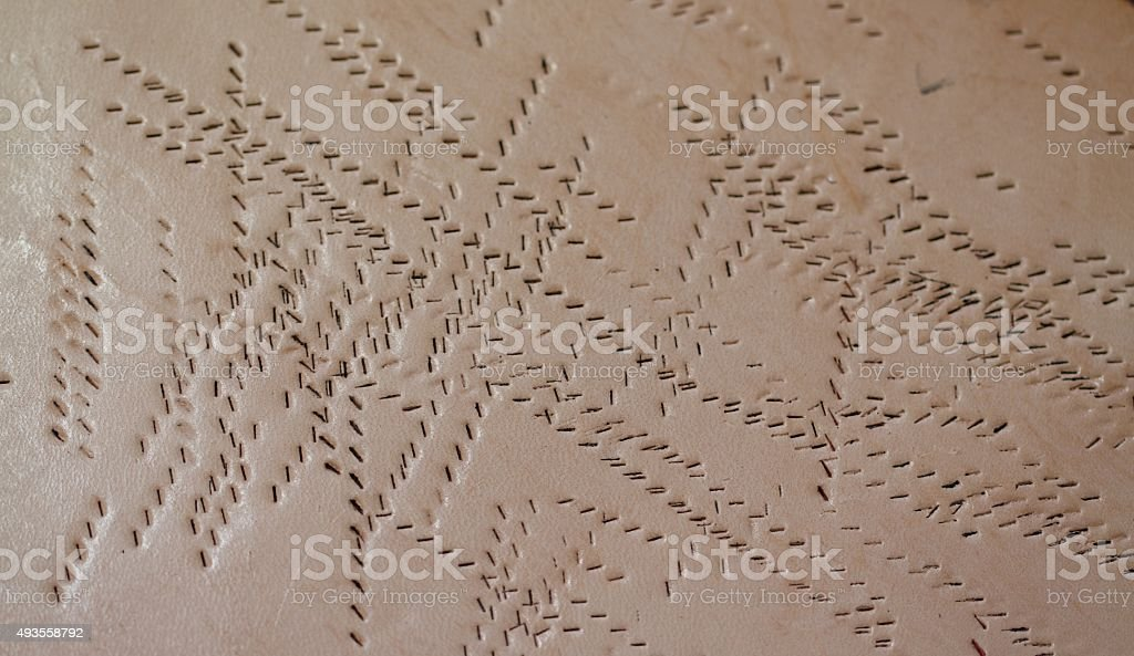 Stitch marks stock photo