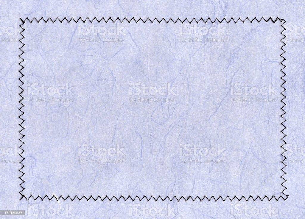 stitched border art paper stock photo