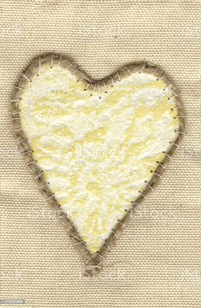 Stitched love royalty-free stock photo