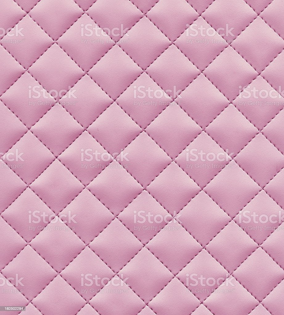 stitched pink leather stock photo