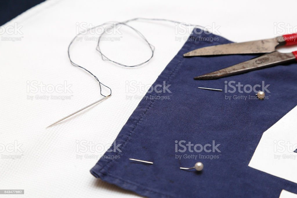 Stitchery stock photo