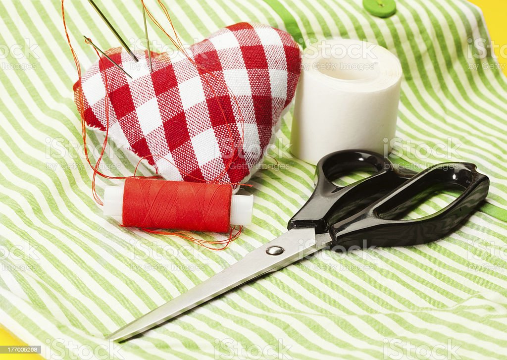 Stitching the heart royalty-free stock photo