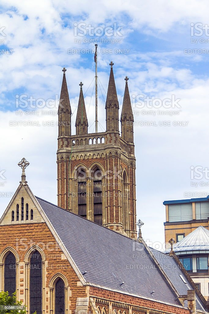 St.James Church tower, Hammersmith, London stock photo