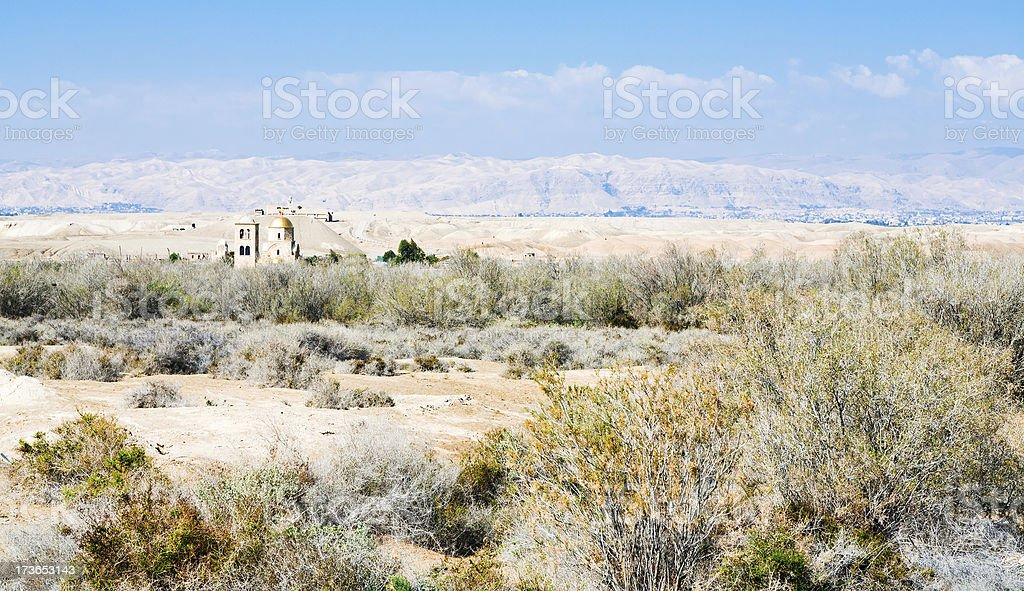 St.John church in wilderness lands of Palestine royalty-free stock photo