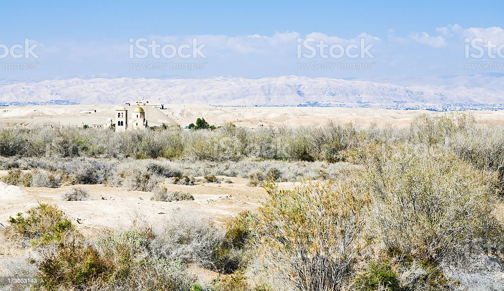 St.John church in wilderness lands of Palestine stock photo