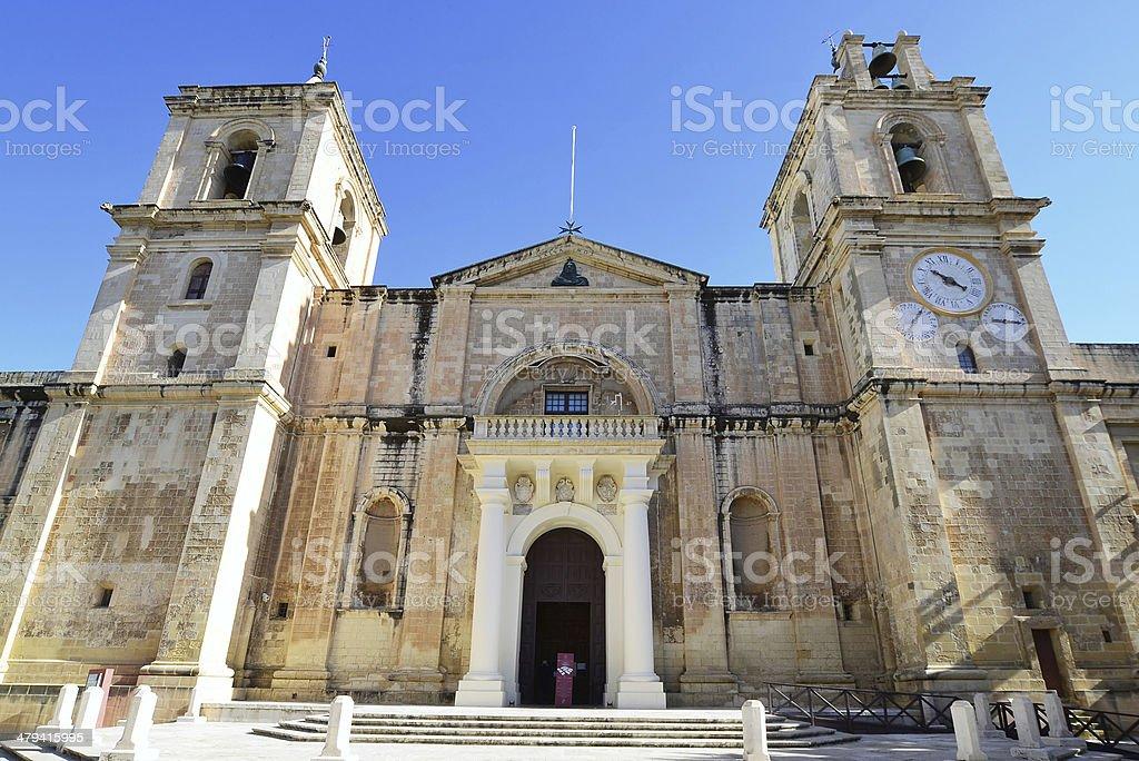 St.John Co-cathedral,Vallet ta,Malta stock photo