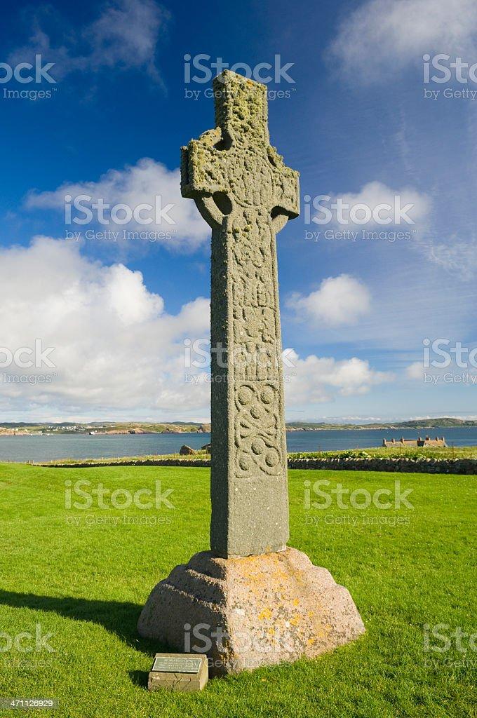 St.Martin's Cross, Isle of Iona royalty-free stock photo