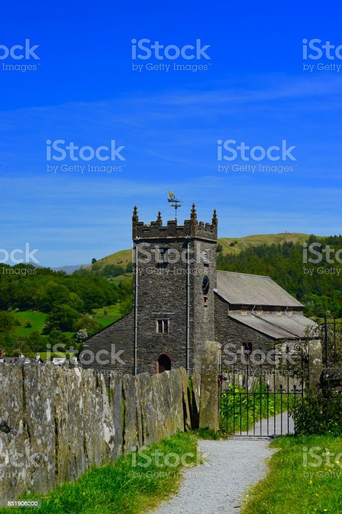 St.Michael and All Angels Church stock photo