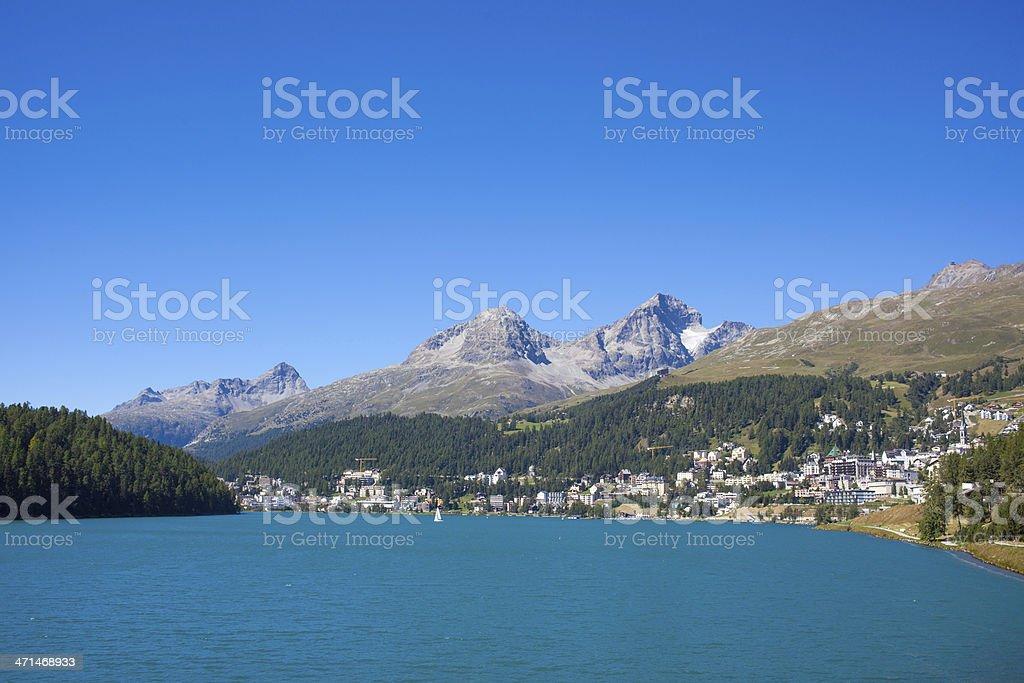 St.Moritz on a bright sunny day royalty-free stock photo