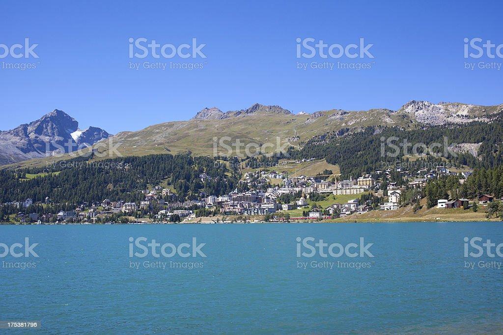 St.Moritz on a bright sunny day, Switzerland royalty-free stock photo