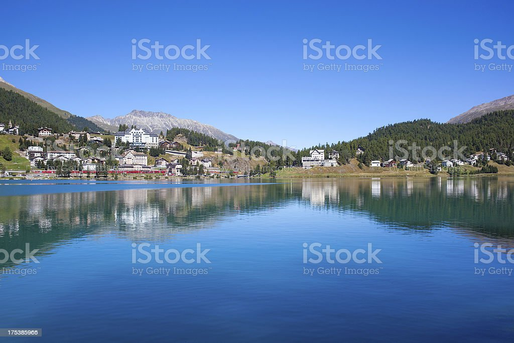 St.Moritz on a bright sunny day, Switzerland royalty-free stock photo