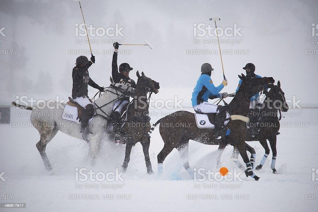 30. St.Moritz Polo World Cup on Snow stock photo