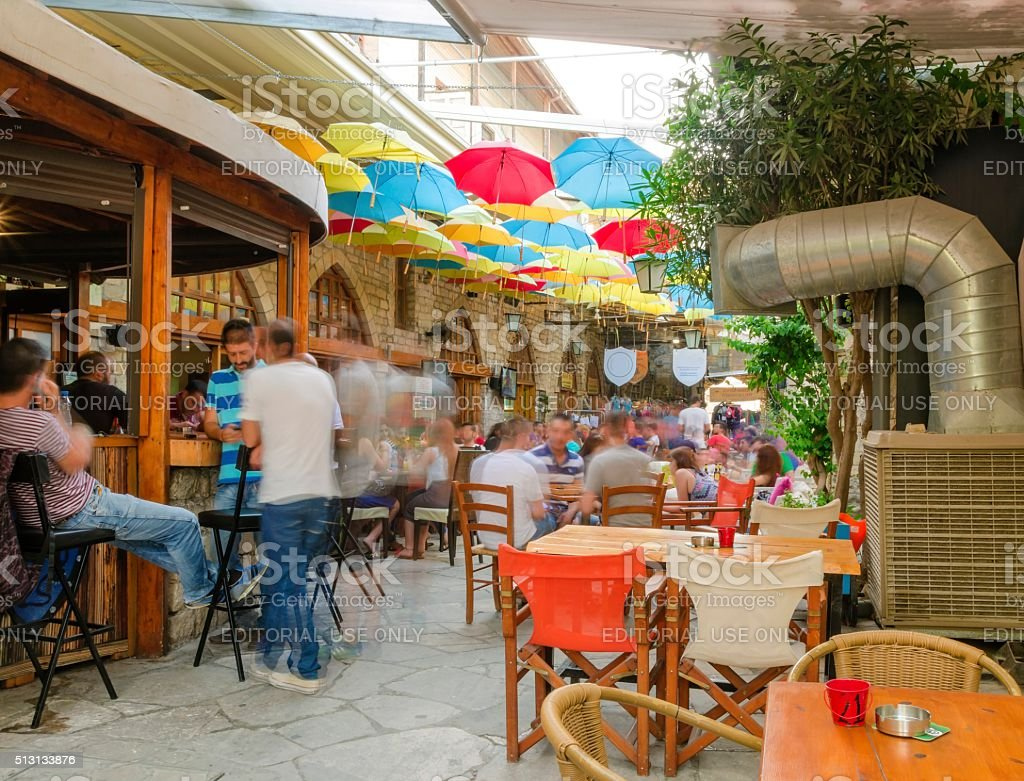 Stoa Fylaktou, Limassol, Cyprus stock photo