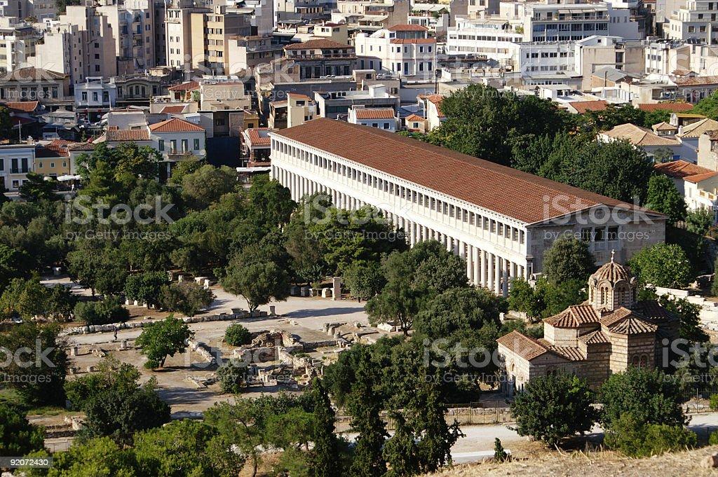 Stoa of Attalos and Agora royalty-free stock photo