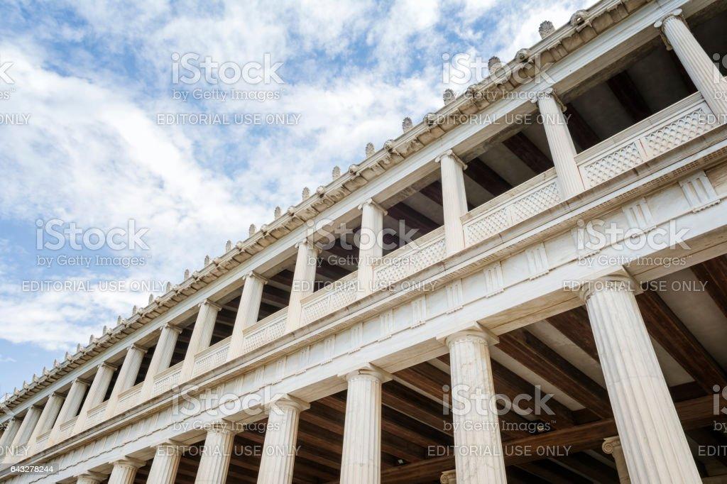 Stoa Of Attalos, Athens, Greece stock photo
