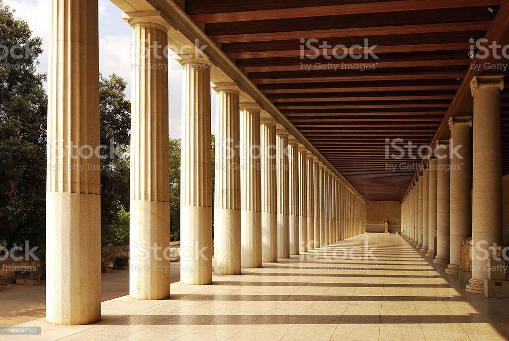 Stoa of Attalus at Athens stock photo