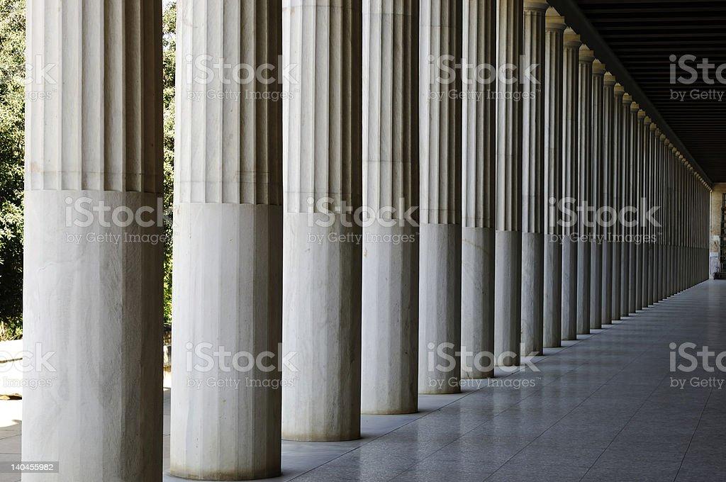 stoa pillar royalty-free stock photo