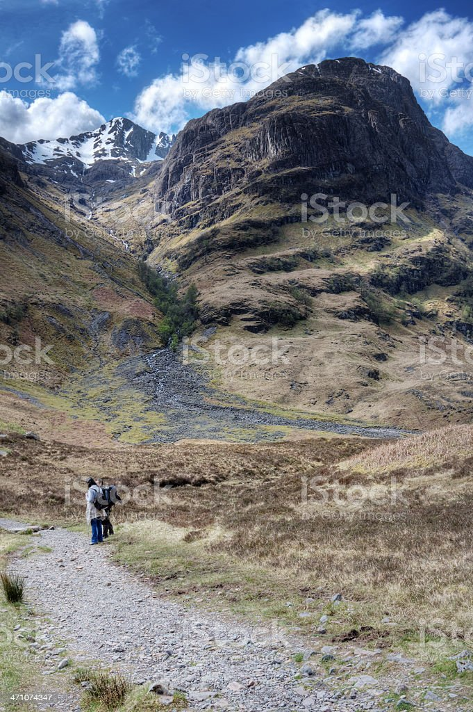 Stob Coire nan Lochan, Glencoe royalty-free stock photo