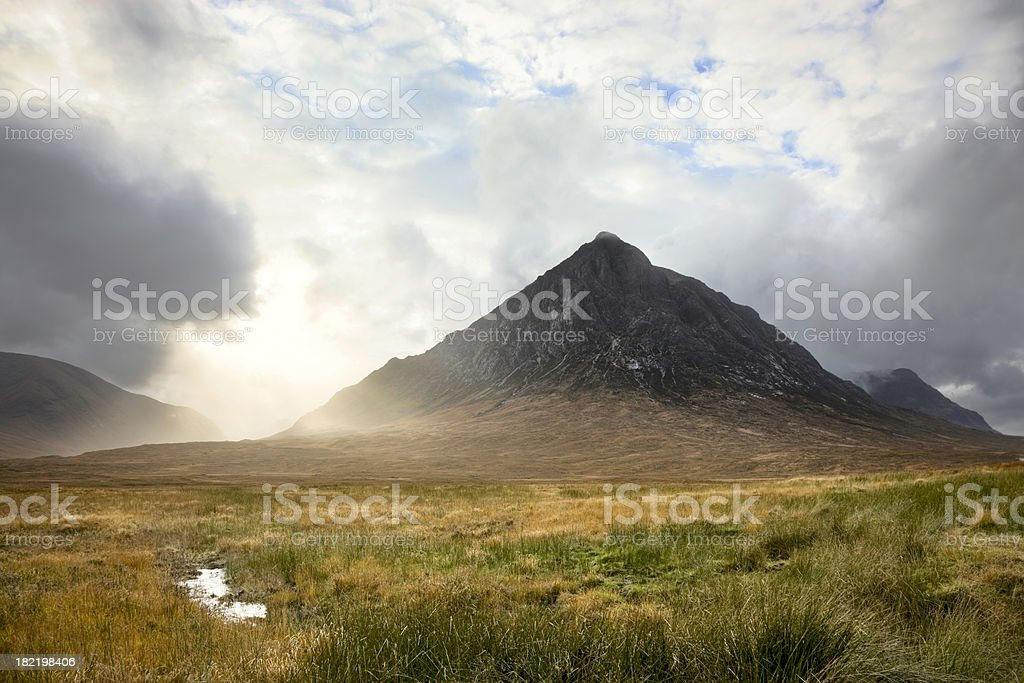 Stob Dearg In The Evening stock photo