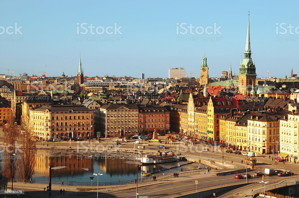 Stocholm central stock photo