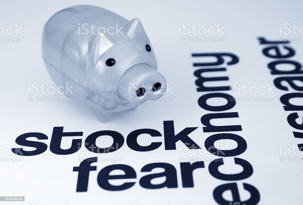 Stock and fear concept royalty-free stock photo