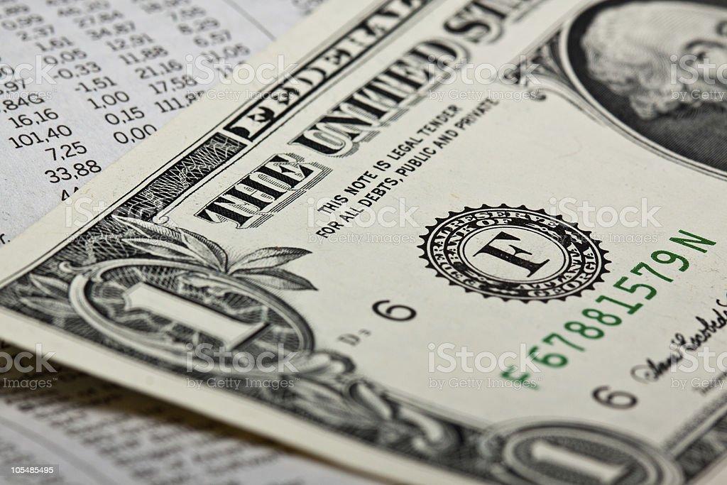 Stock e dinheiro foto de stock royalty-free