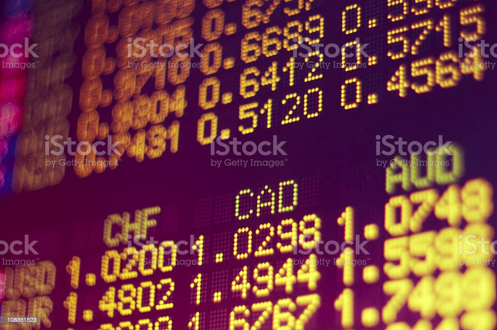 Stock board stock photo