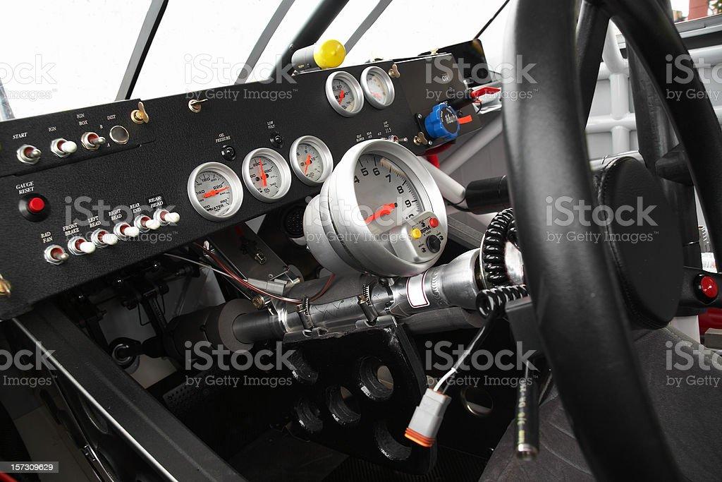 stock car dashboard stock photo