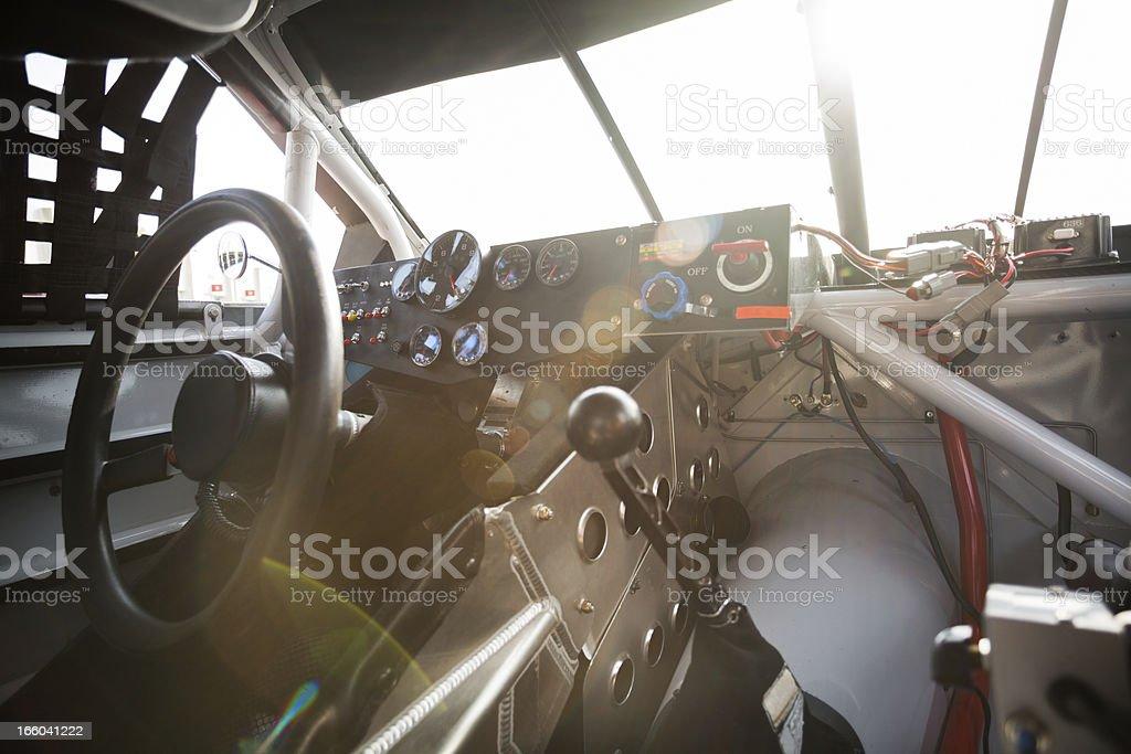 Stock car interior stock photo