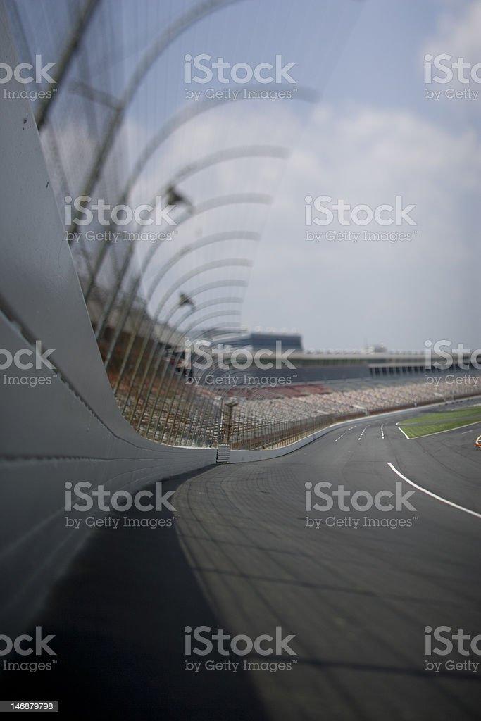 Stock car race track. stock photo