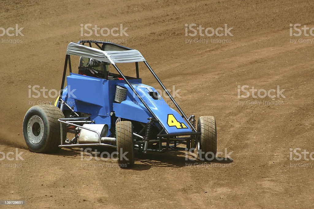 Stock car racing cart royalty-free stock photo