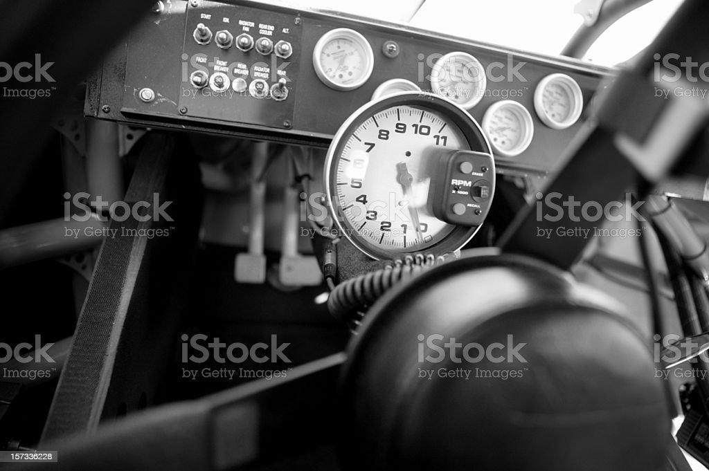 Stock car tachometer stock photo