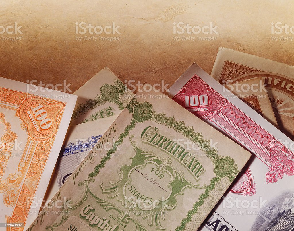 Stock Certificate 20 royalty-free stock photo