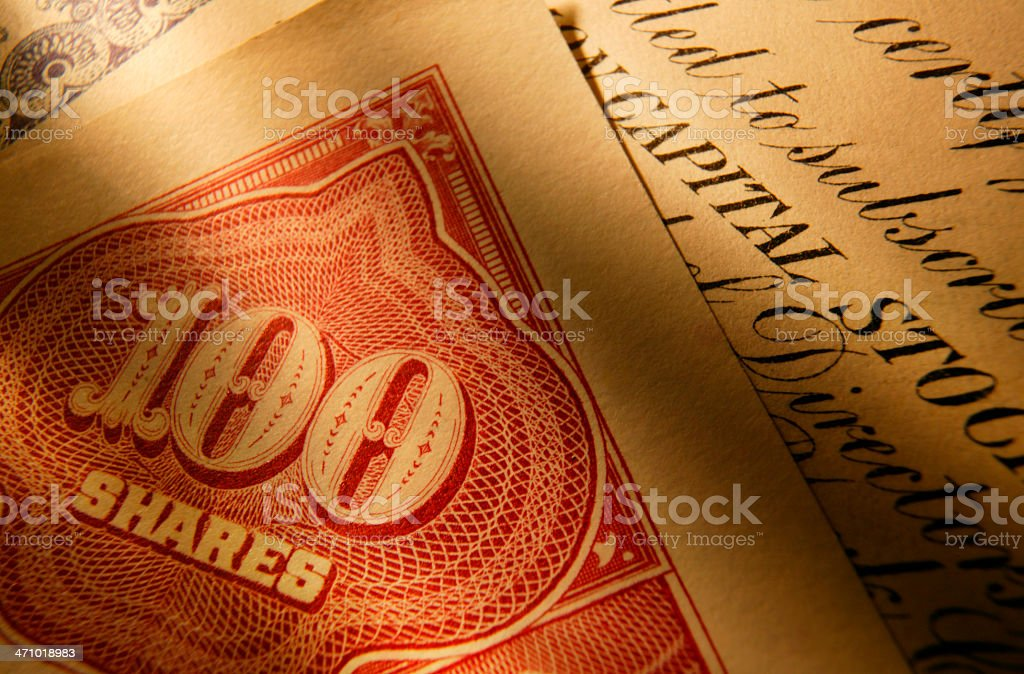 Stock Certificate 29 royalty-free stock photo