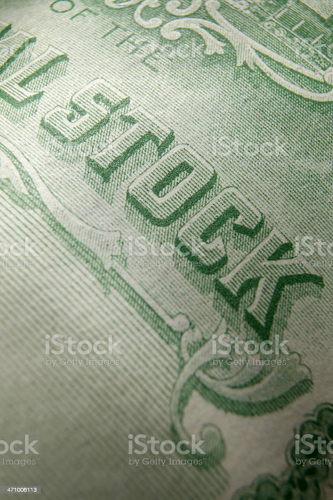 Stock Certificate 3 royalty-free stock photo