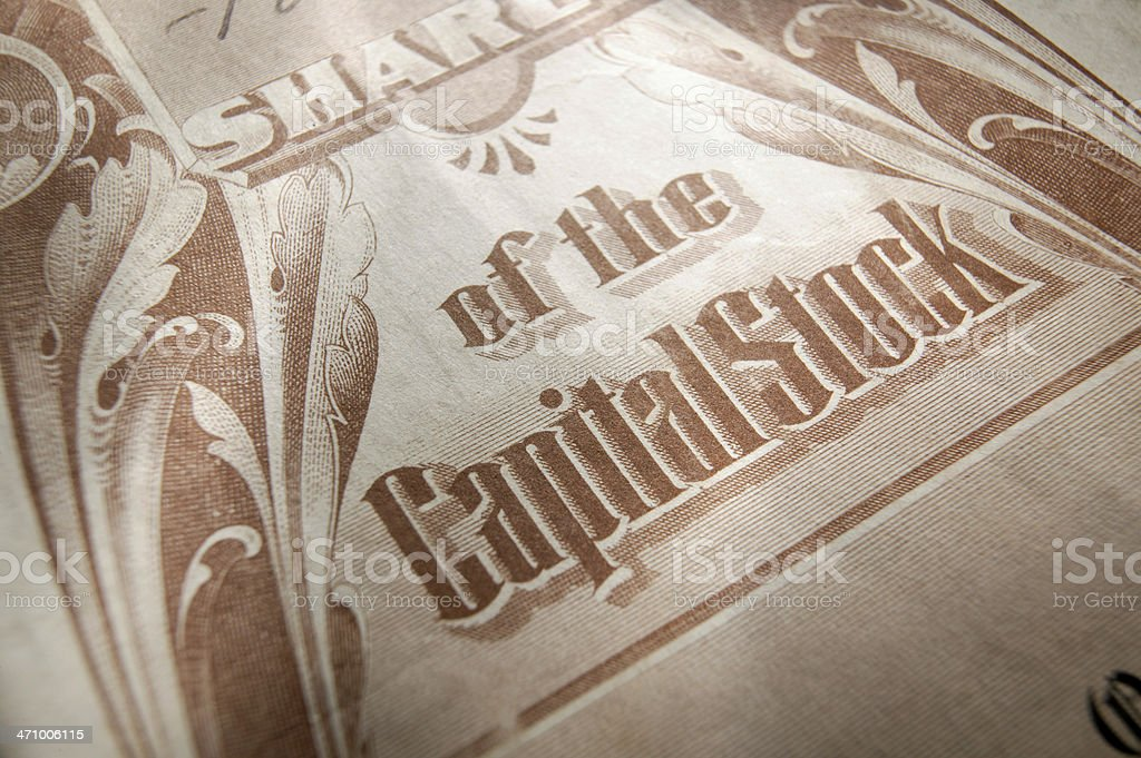 Stock Certificate 4 royalty-free stock photo