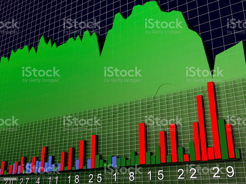 Stock Chart 3D royalty-free stock photo