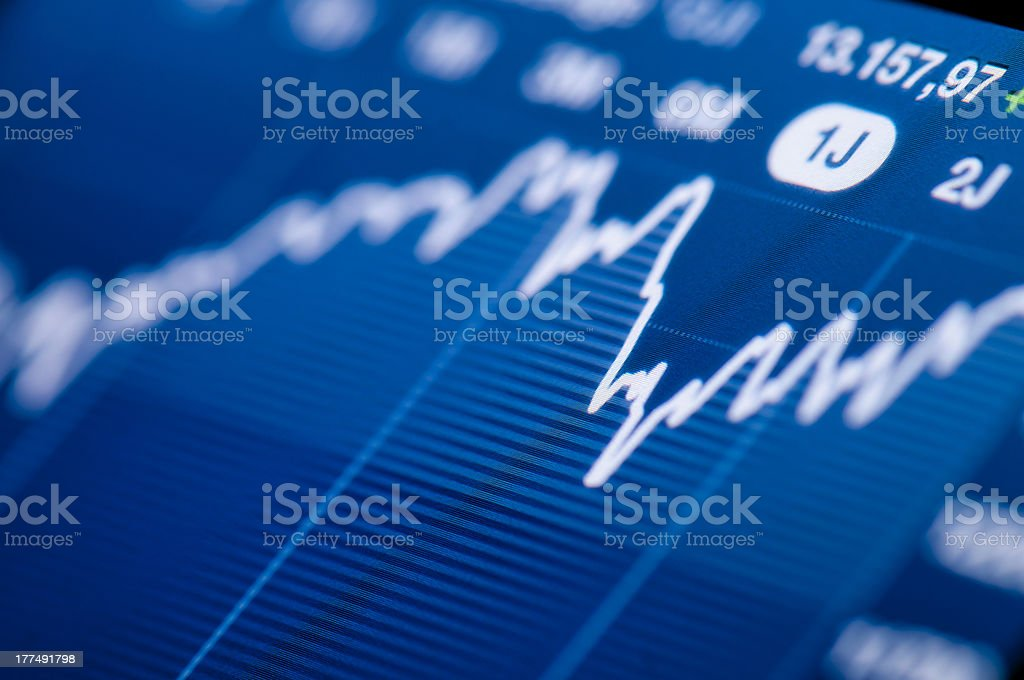 Stock chart growth stock photo