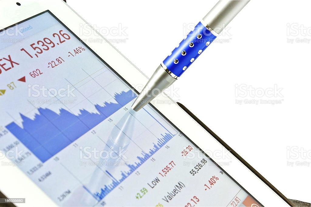 Stock chart royalty-free stock photo
