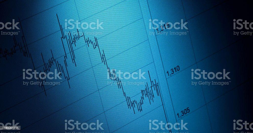 Stock charts - Forex Market royalty-free stock photo