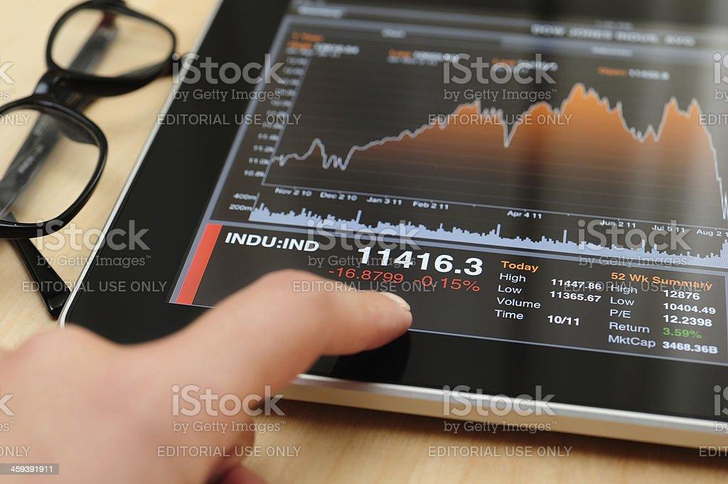 Stock Charts on iPad royalty-free stock photo