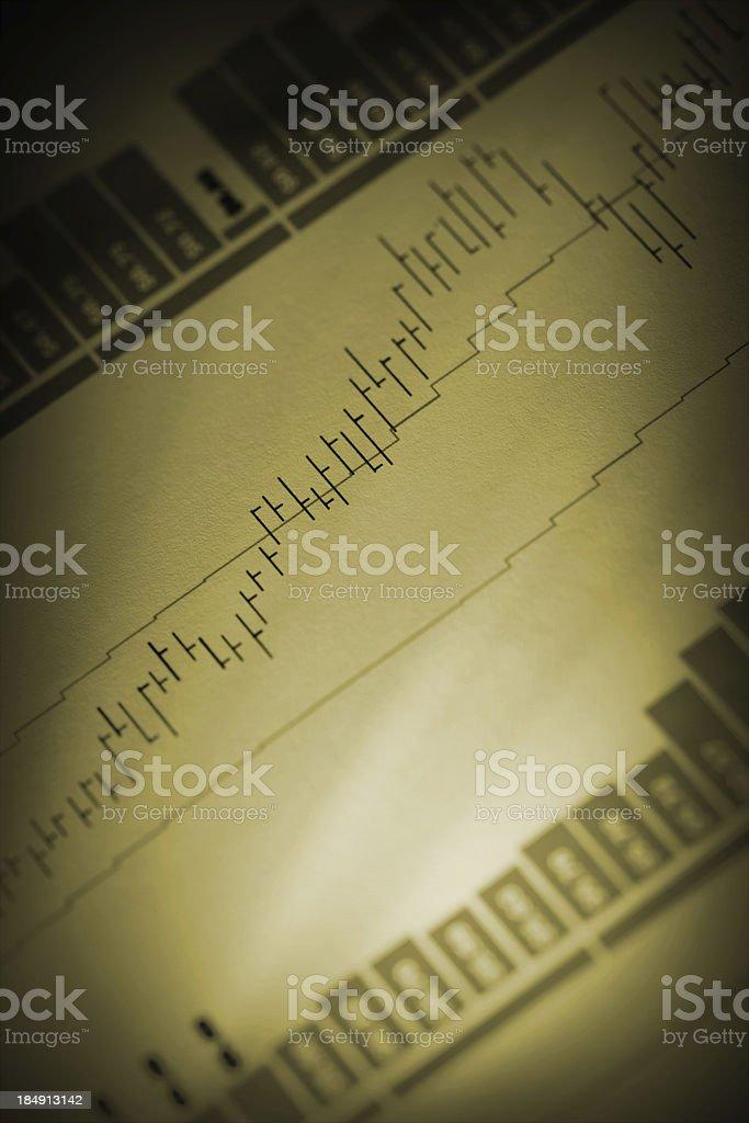 Stock charts royalty-free stock photo