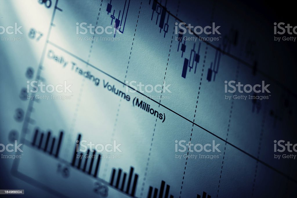 Stock charts royalty-free stock photo