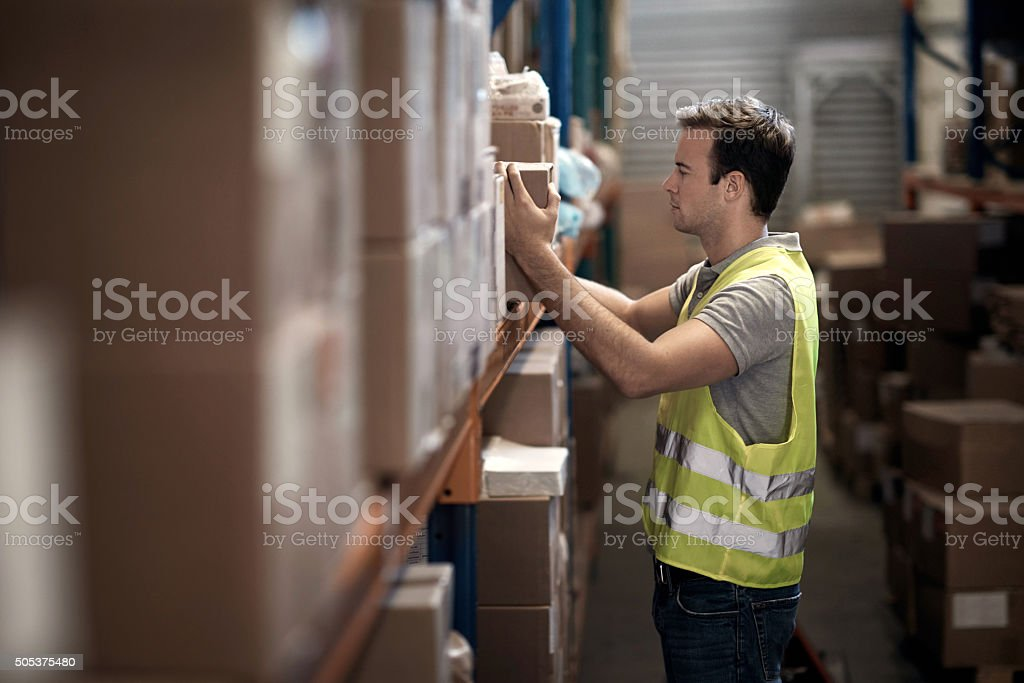 Stock control done accurately and efficiently stock photo