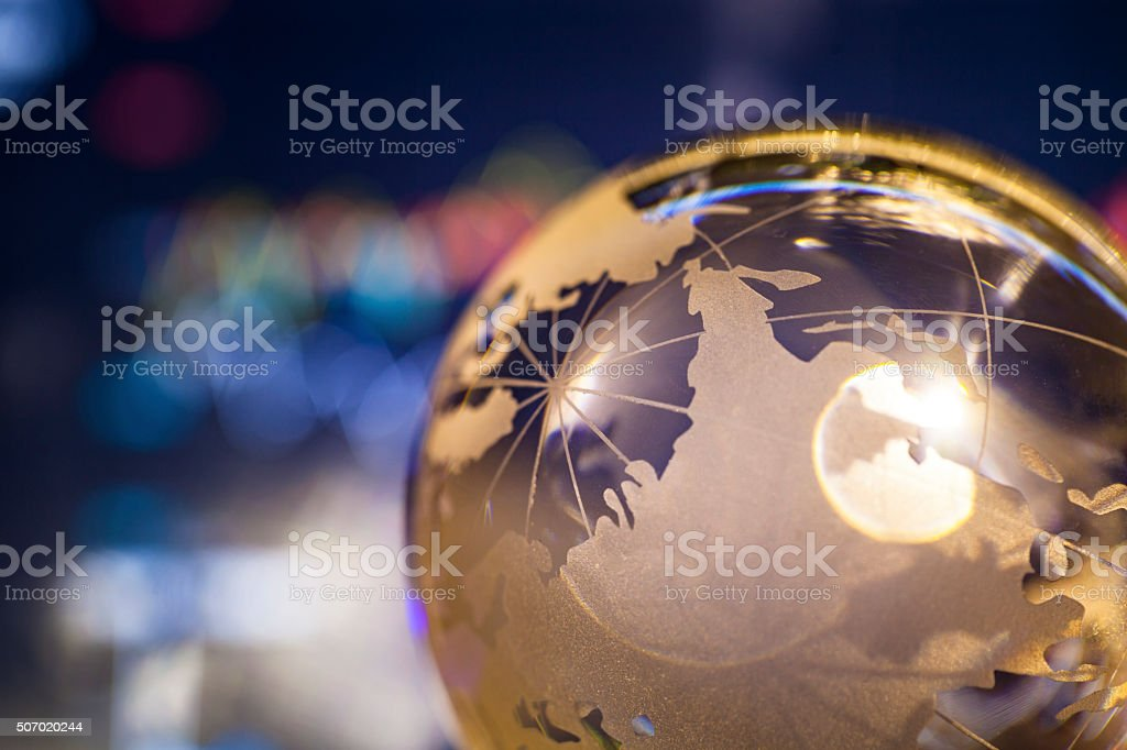 stock data after the golden crystal global ball stock photo