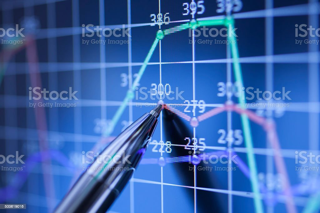 Stock data concept stock photo