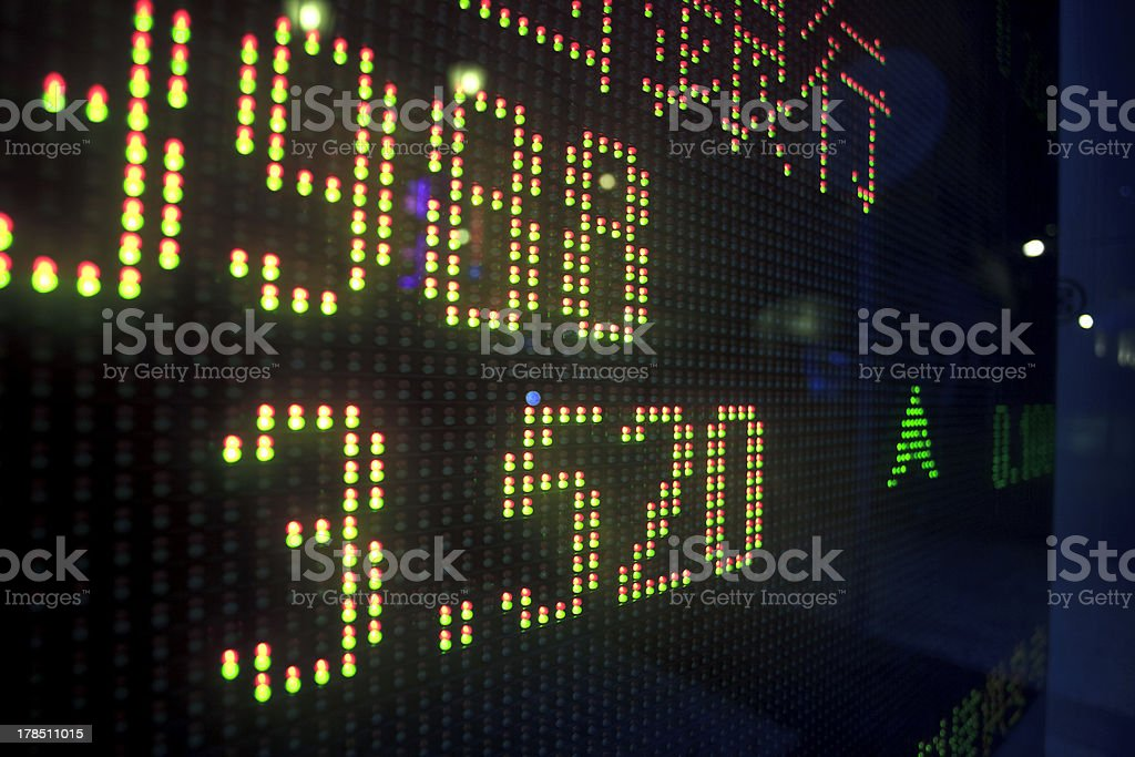 Stock display royalty-free stock photo