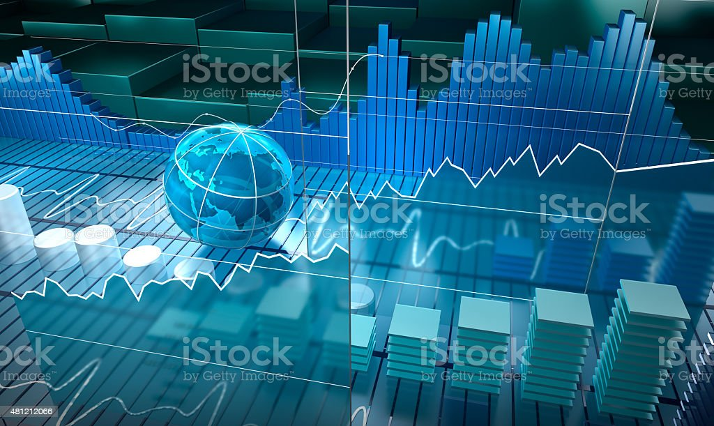 Stock exchange board, abstract background stock photo