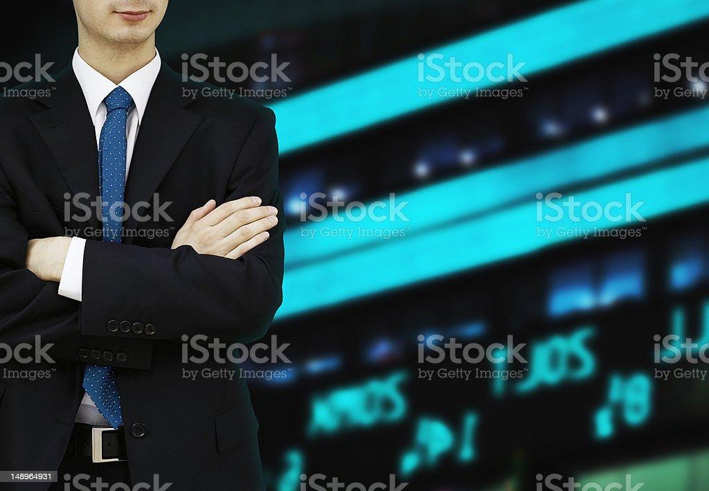 Stock Exchange Businessman royalty-free stock photo