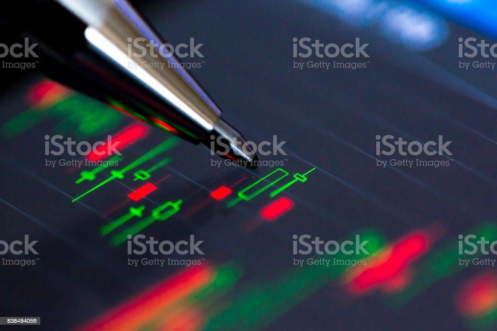 Stock Exchange Chart on Smart Phone stock photo